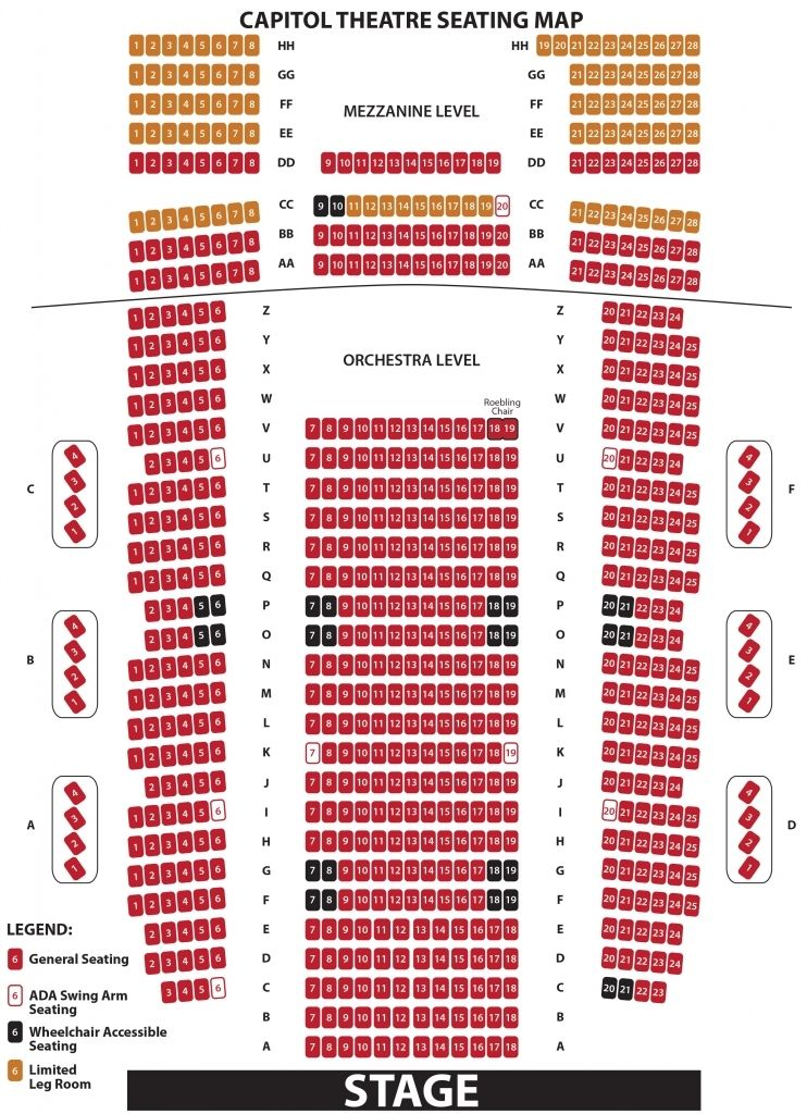 The Most Incredible Capitol Theater Seating Chart Seating Charts Chart Seating