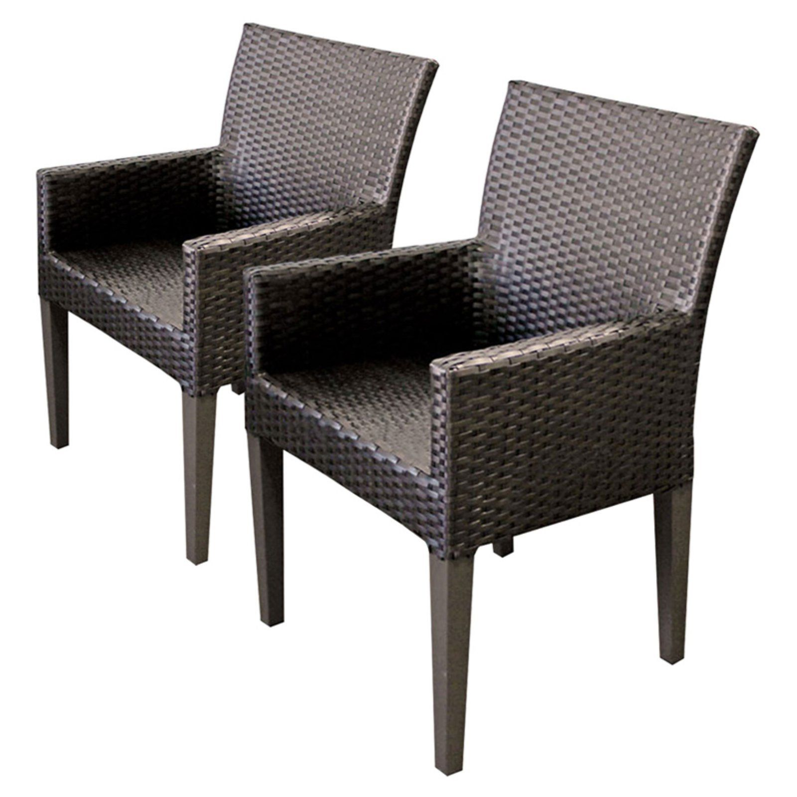 Outdoor Tk Clics Barbados Wicker Patio Dining Arm Chairs
