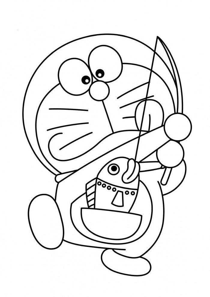 Gambar Mewarnai Doraemon - 4 | Children | Pinterest
