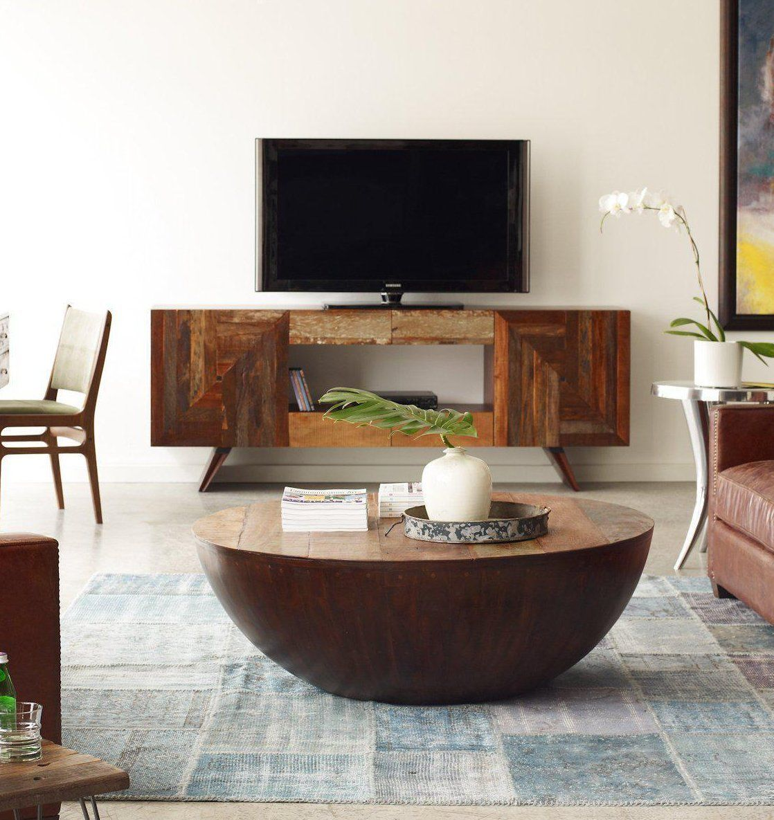 Rex 83 Coffee Table Round Wooden Coffee Table Round Coffee Table Rustic [ 1185 x 1118 Pixel ]