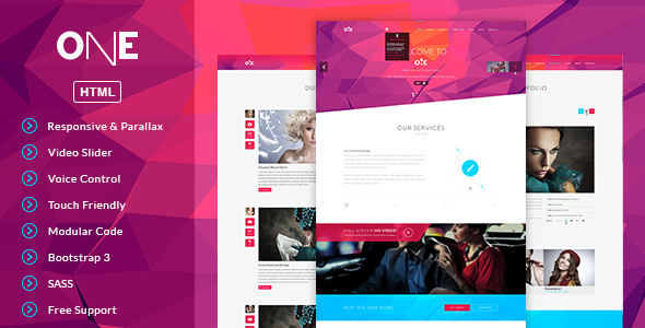 ONE- HTML Template | Template, Website themes and Creative portfolio