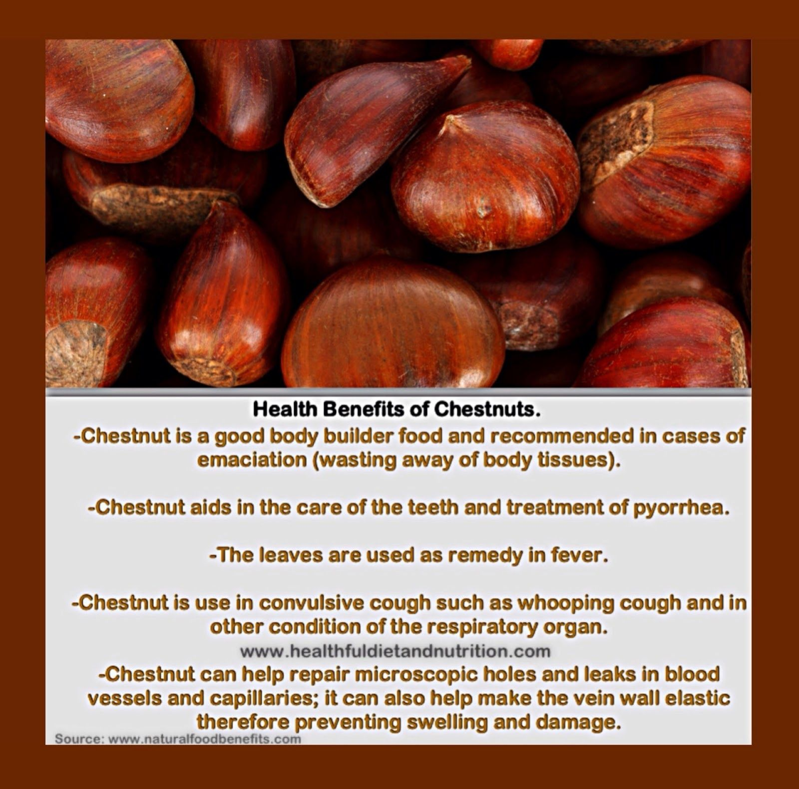 Chestnuts. | Education | Pinterest | Health benefits