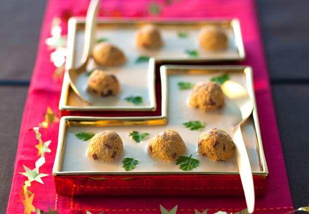 La crème du Barry glacée et bonbons au foie grasCes petites boulettes au foie gras et au magret s