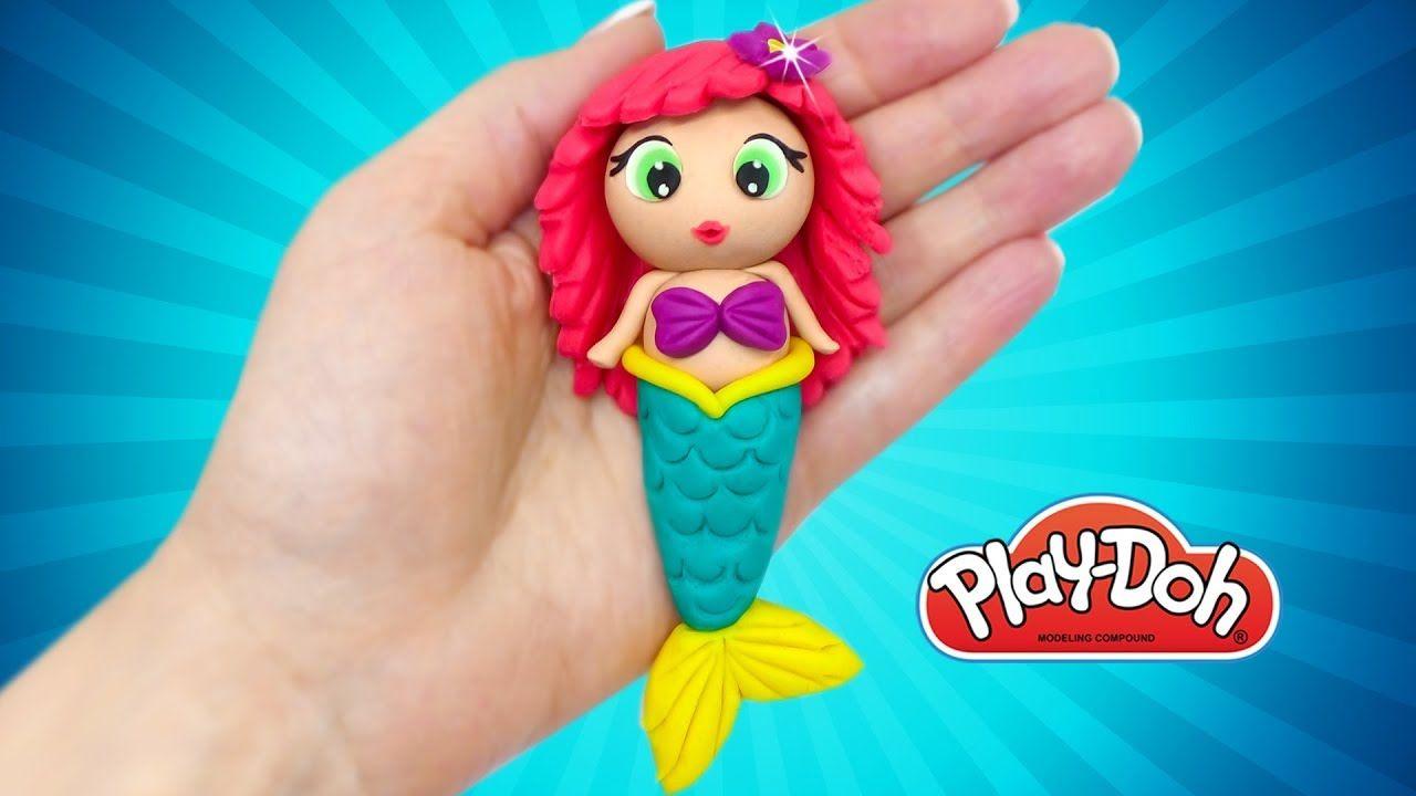 How To Make Mermaid. Play Doh Dolls Mermaid Ariel. DIY For Kids. Video