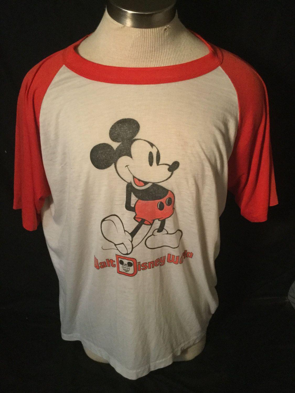 Vintage 1980 S Mickey Mouse Disney World Raglan T Shirt Surf Beach 50 50 By 413productions On Etsy Vintage Tshirts Shirts T Shirt