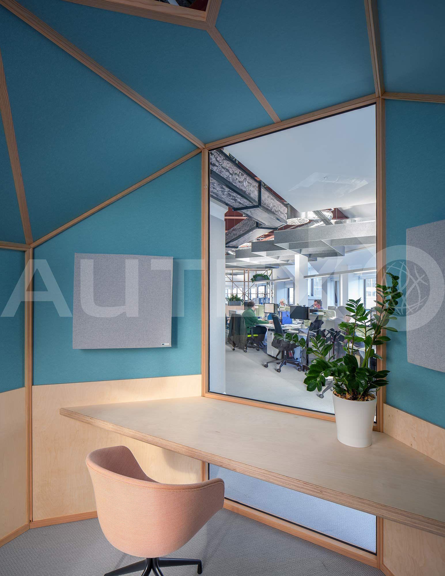 internal office pods. Autex Interior Acoustics - Bespoke 12mm Cube™ Internal Cladding In Meeting Pods Cundall Birmingham Office