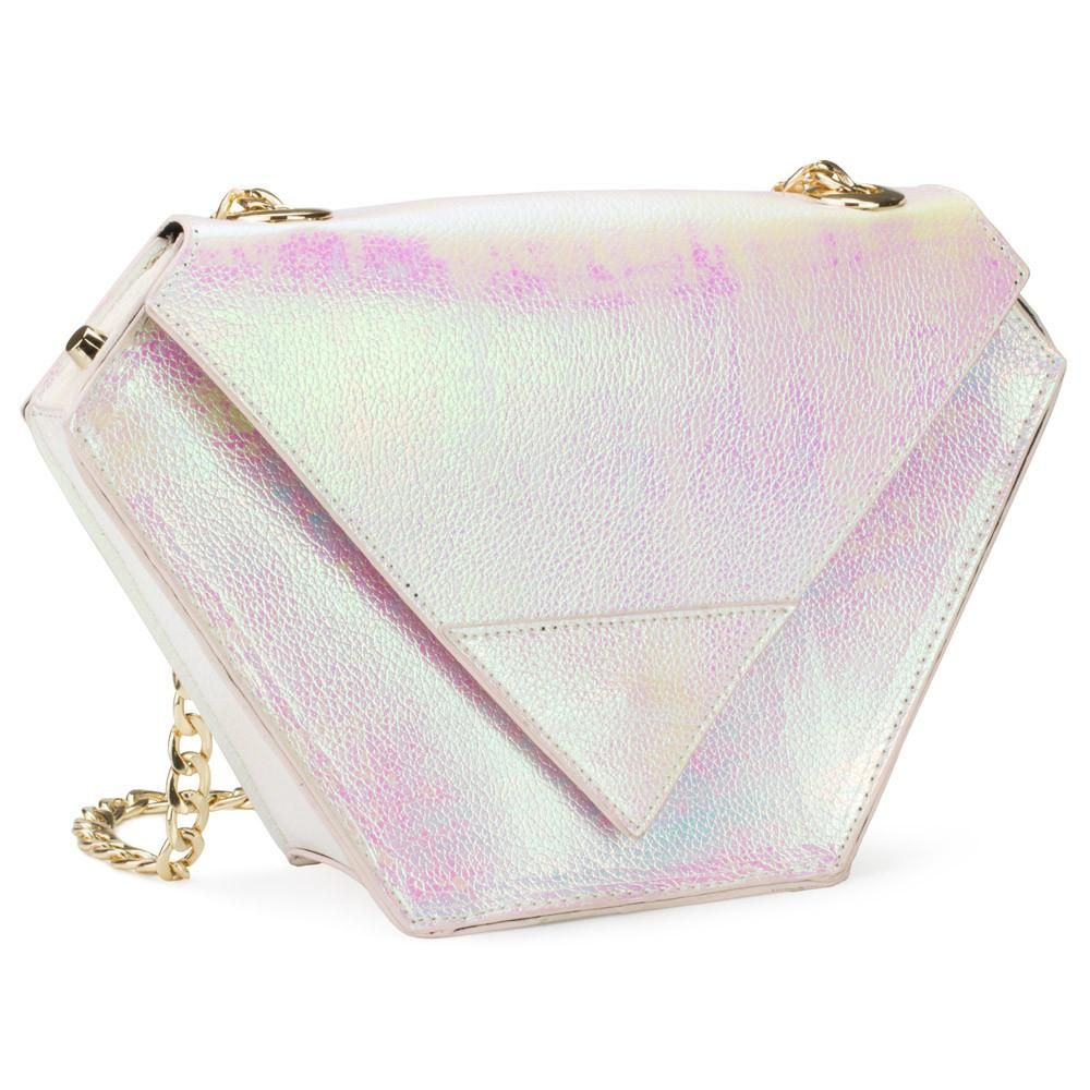 Diamond Bag Iridescent White Bags, Studded handbags