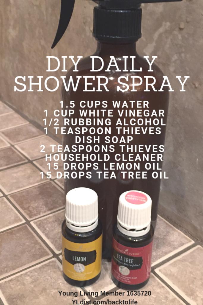 Diy Daily Duschspray In 2020 Daily Shower Spray Essential Oils
