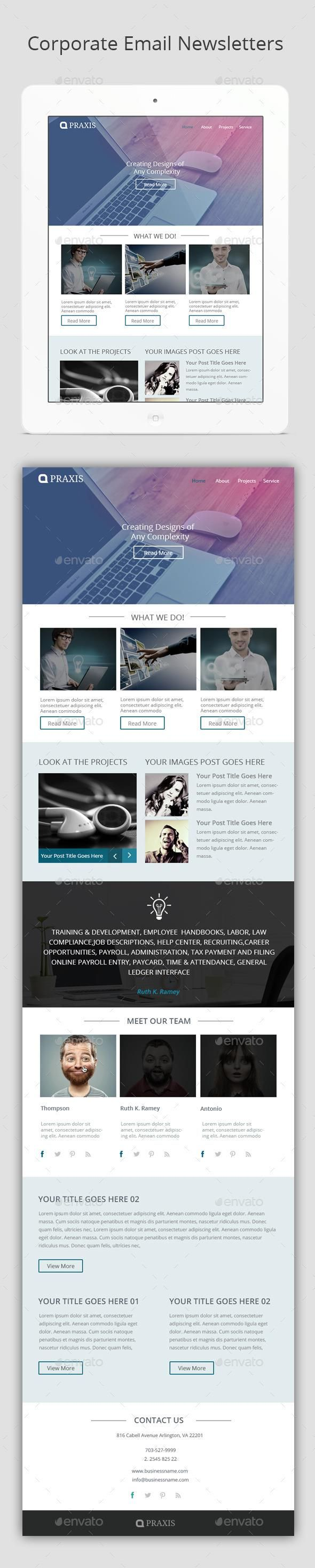 Corporate Email Newsletters  Email Newsletters Email Design And