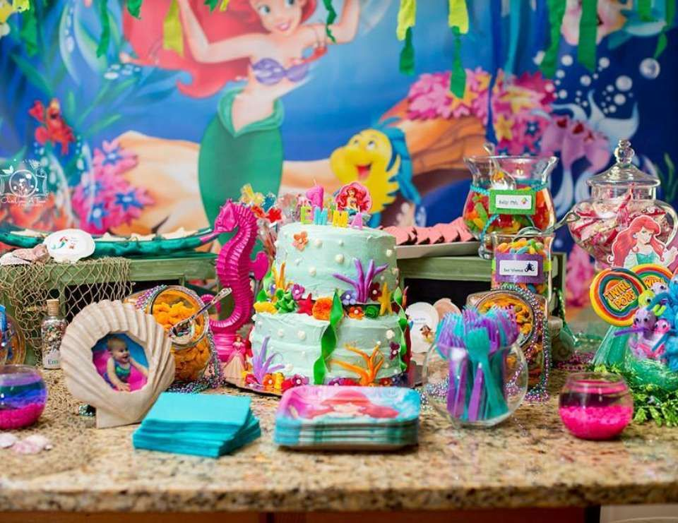 little mermaid birthday emma s 1st birthday disney birthday