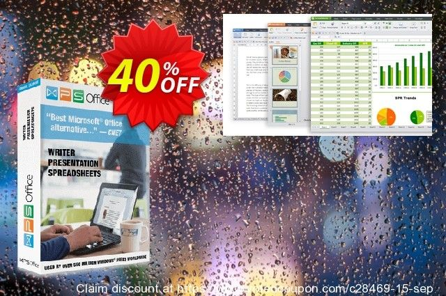 WPS Office 2016 Business coupon, 40 discount code Kingsoftcom