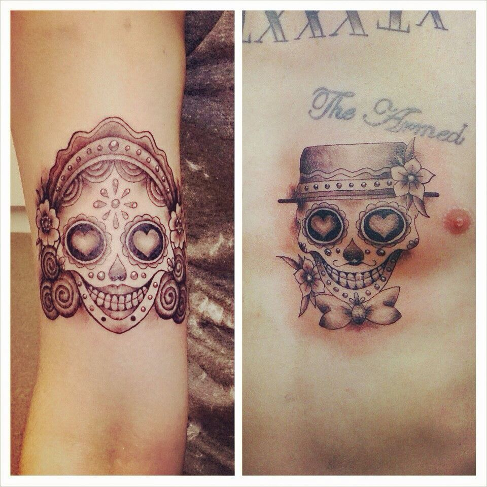 mine and my partners sugar skull tattoos tattoos pinterest sugar skull tattoos sugar. Black Bedroom Furniture Sets. Home Design Ideas
