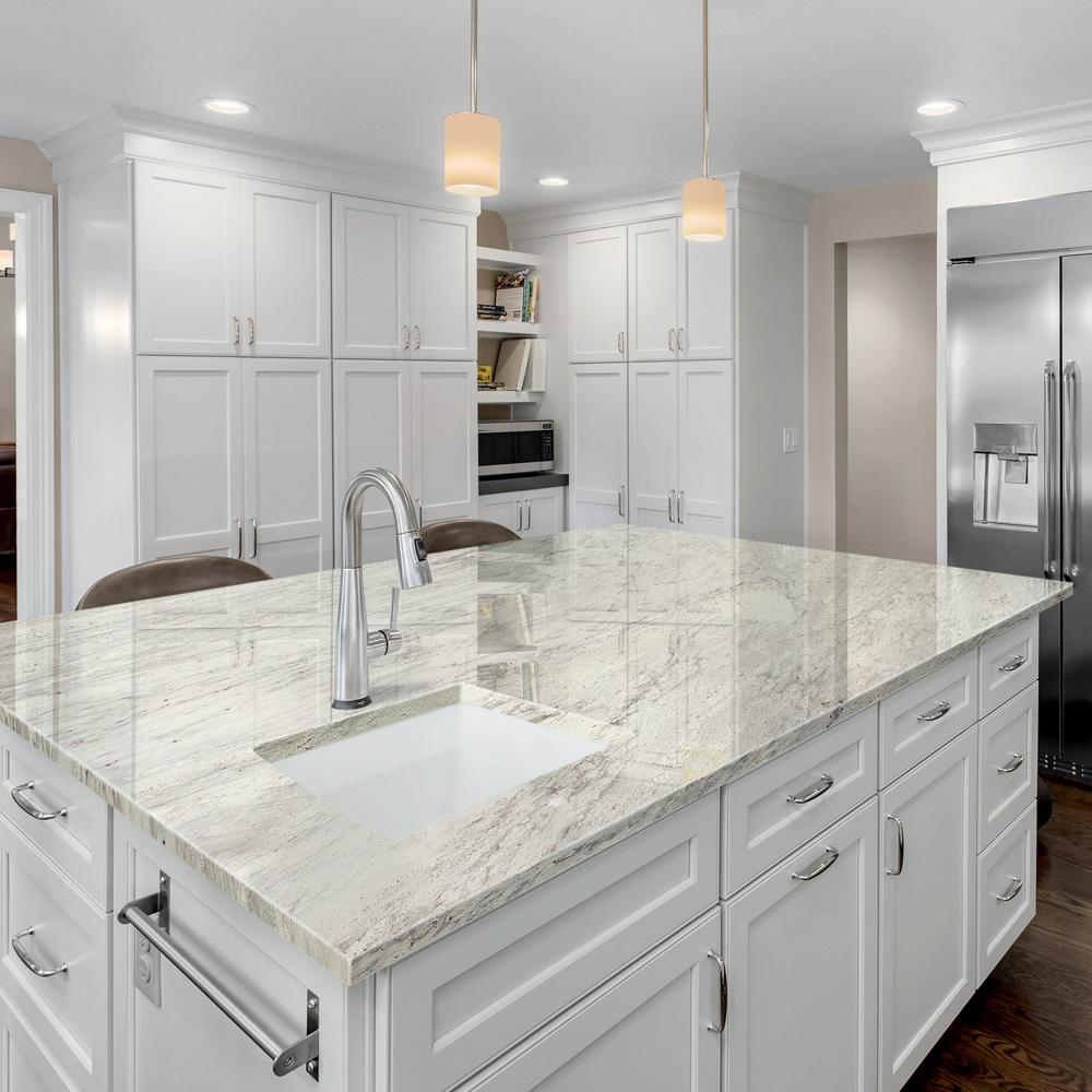 Stonemark 3 In X 3 In Granite Countertop Sample In Thunder White Dt G800 The Home Depot In 2020 Granite Countertops Kitchen White Granite Countertops Grey Granite Countertops