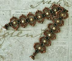 Linda's Crafty Inspirations: Bracelet of the Day: Lovely Lace Bracelet