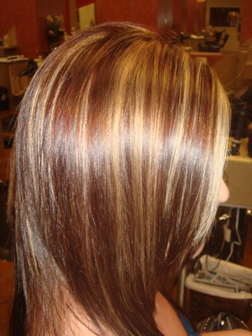 brown hair with blonde highlights her dark medium