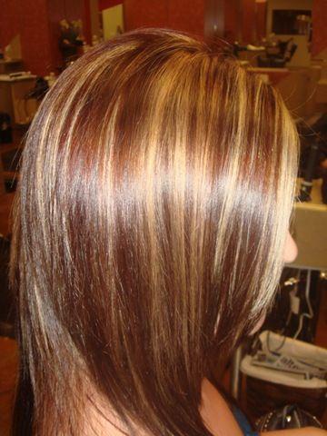 Brown Hair With Blonde Highlights Her Dark Medium