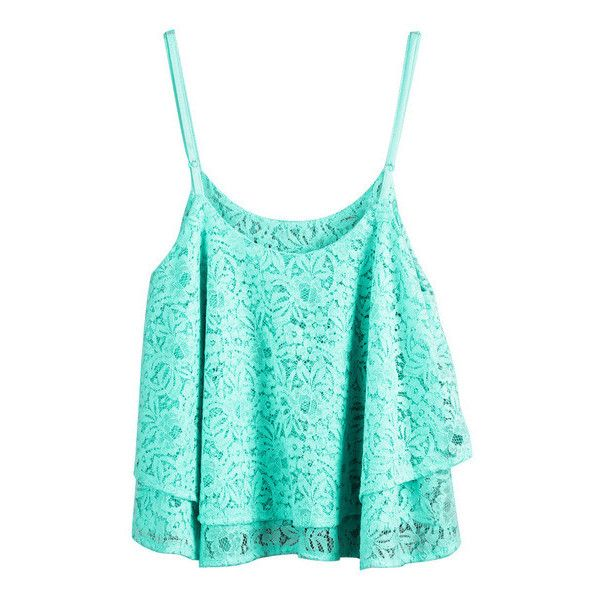 Double Layers Crop Top Mint ($15) ❤ liked on Polyvore featuring tops, shirts, crop tops, tank tops, blue crop top, summer tanks, summer shirts, summer tops and layering tanks