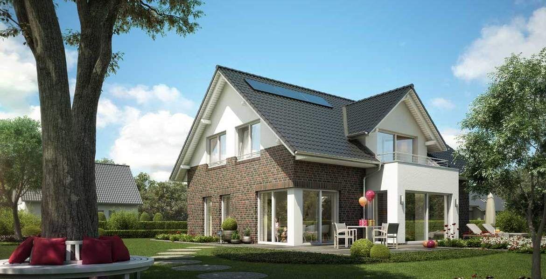 einfamilienhaus mit wechselfassade und zwerggiebel | home // außen, Hause deko