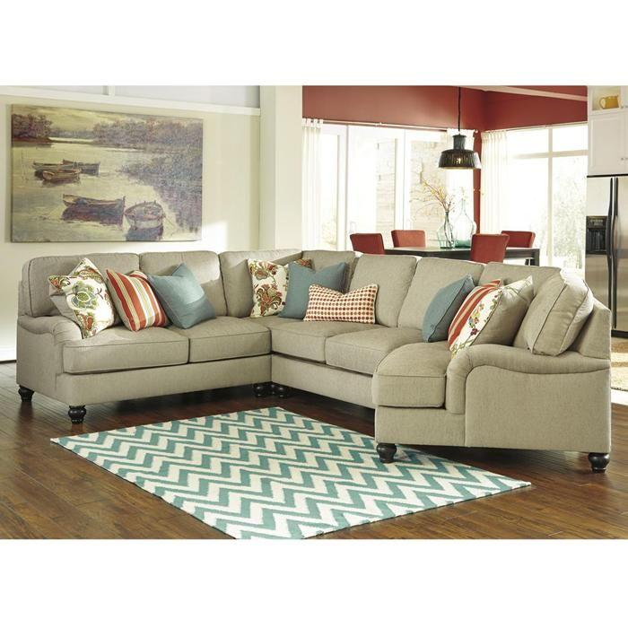 Kerridon 4 Piece Sectional In Putty Nebraska Furniture Mart Come