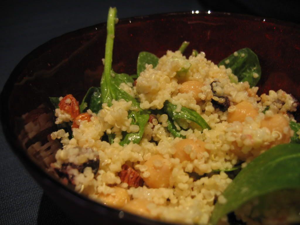 dried cherry quinoa salad