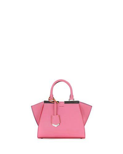 cda6659a9f4e ... top quality v2qhg fendi trois jour mini shopping tote bag pink 2b23f  2caca