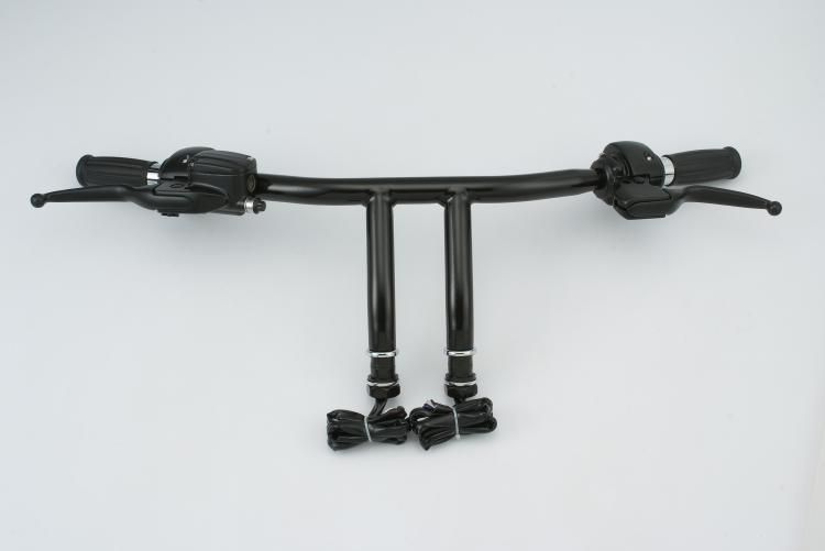 Black 8 Tall Pre Built T Bar Handlebar Assembly For