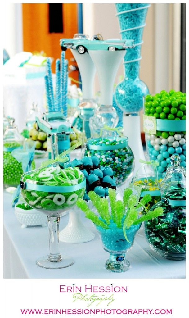 A Candy Table Designed By Indy S A Touch Of Elegance And Deborah Bowman Amazing Candy Buffet Wedding Green Themed Wedding Lime Green Weddings