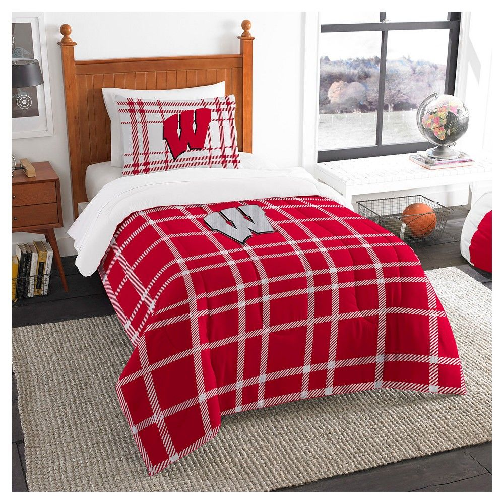Ncaa University Of Wisconsin Badgers Bed In A Bag Complete Bedding Set Twin Christmas Gift Ideas