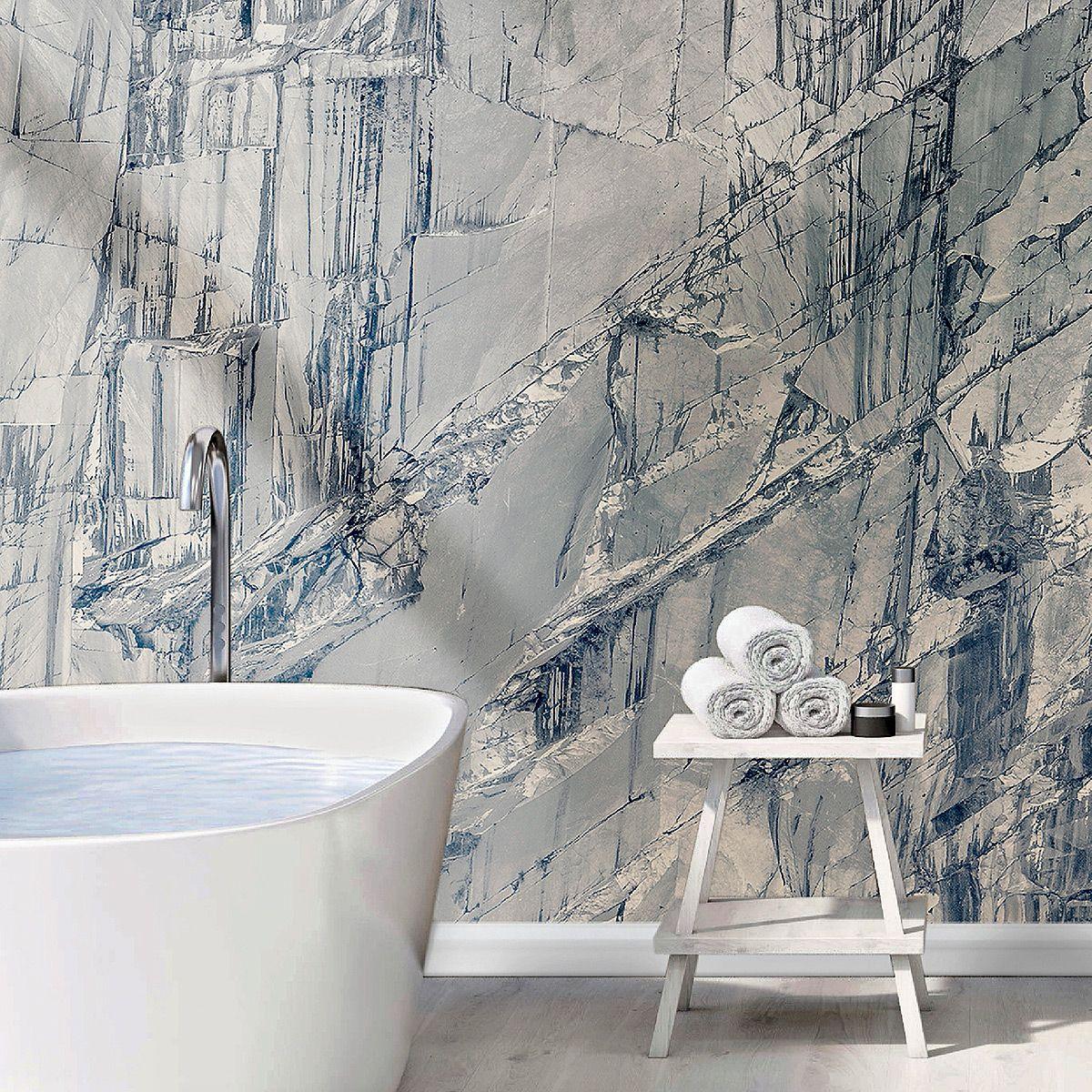 Glasfaservliestapete Naturalmente Von Wallpepper Bild 3 Badezimmer Tapete Tapete Fur Bad Badezimmer
