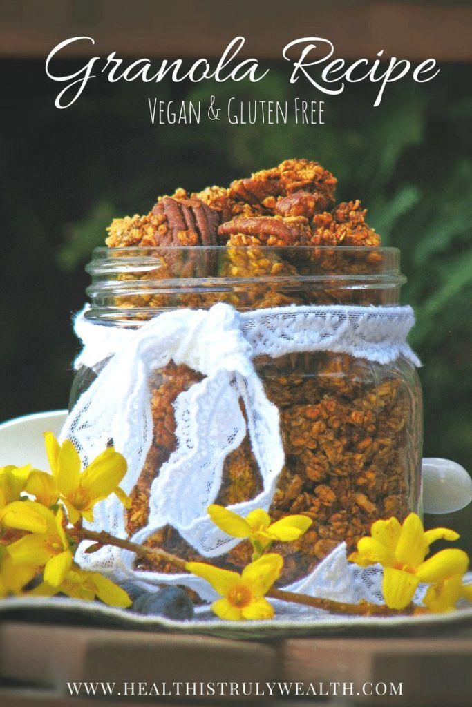 Try this DELICIOUS Vegan Gluten Free Granola Recipe! It's also refined sugar free! LOVE IT!