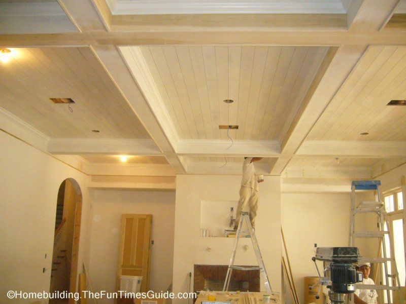 Image Result For Ceiling With Beams And Gr Cloth Wood Plank