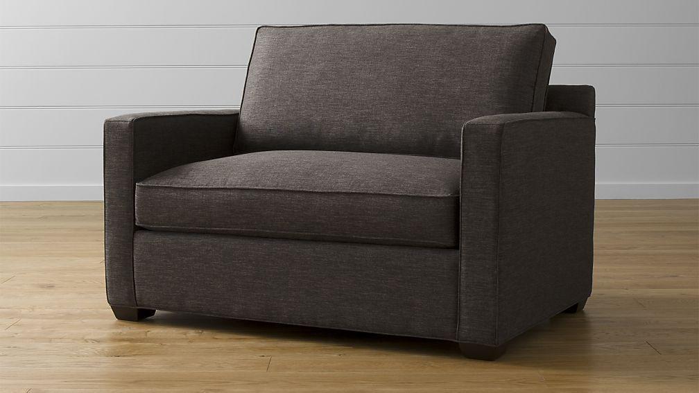 Davis Twin Sleeper Sofa Graphite Twin Sleeper Sofa Sleeper
