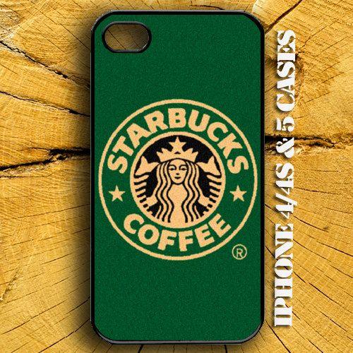 Starbucks Coffee for iPhone 4 Case, iPhone 4s Case and iPhone 5 case Hard Plastic Cases 2. $14.99, via Etsy.