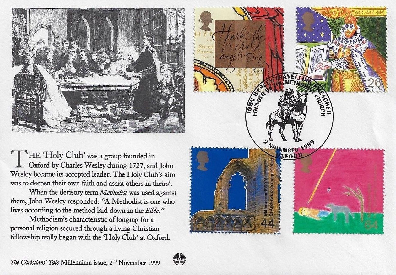 Gb 2000 christians tale methodist philatelic society