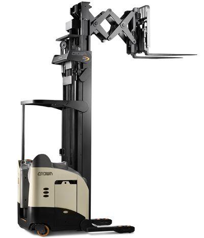 Crown Narrow Aisle Reach Truck Rm 6000s Monolift Forklift Safety Lifted Trucks Trucks