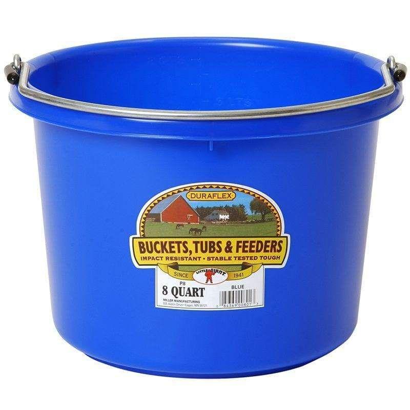 Little Giant 8 Quart Blue Plastic Bucket In 2020 Plastic Buckets Little Giants Bucket