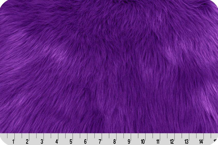monkey shag fur purple
