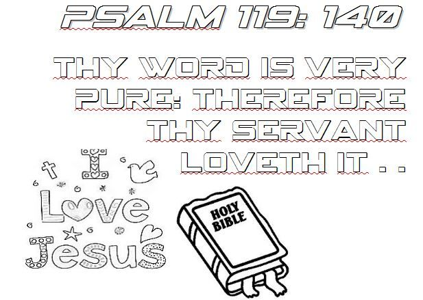 psalm 119140 master clubs lookouts bible verse coloring page designed by tpeakgethsemane - Psalm 98 Coloring Page