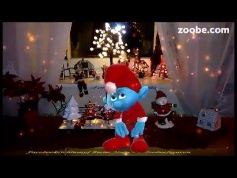 Montag steht grinsend vor der t r lustiger schlumpf zoobe animation videos f r jeden anlass - Schlumpf weihnachten ...