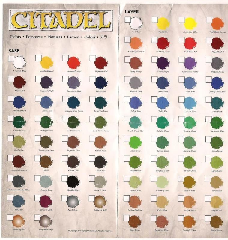 New Citadel Paint Charts Paint Charts Painting Miniature Painting