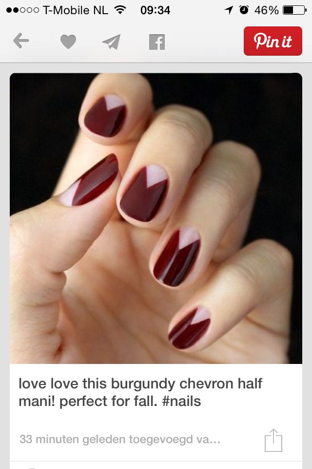 Cool triangle at the base | Nails | Pinterest | Triangles, Manicure ...