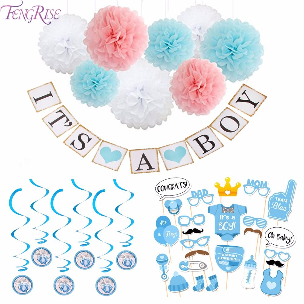 3ae799c7f968 FENGRISE Baby Shower Decor Newborn Its A Boy Girl Photo Booth Props ...