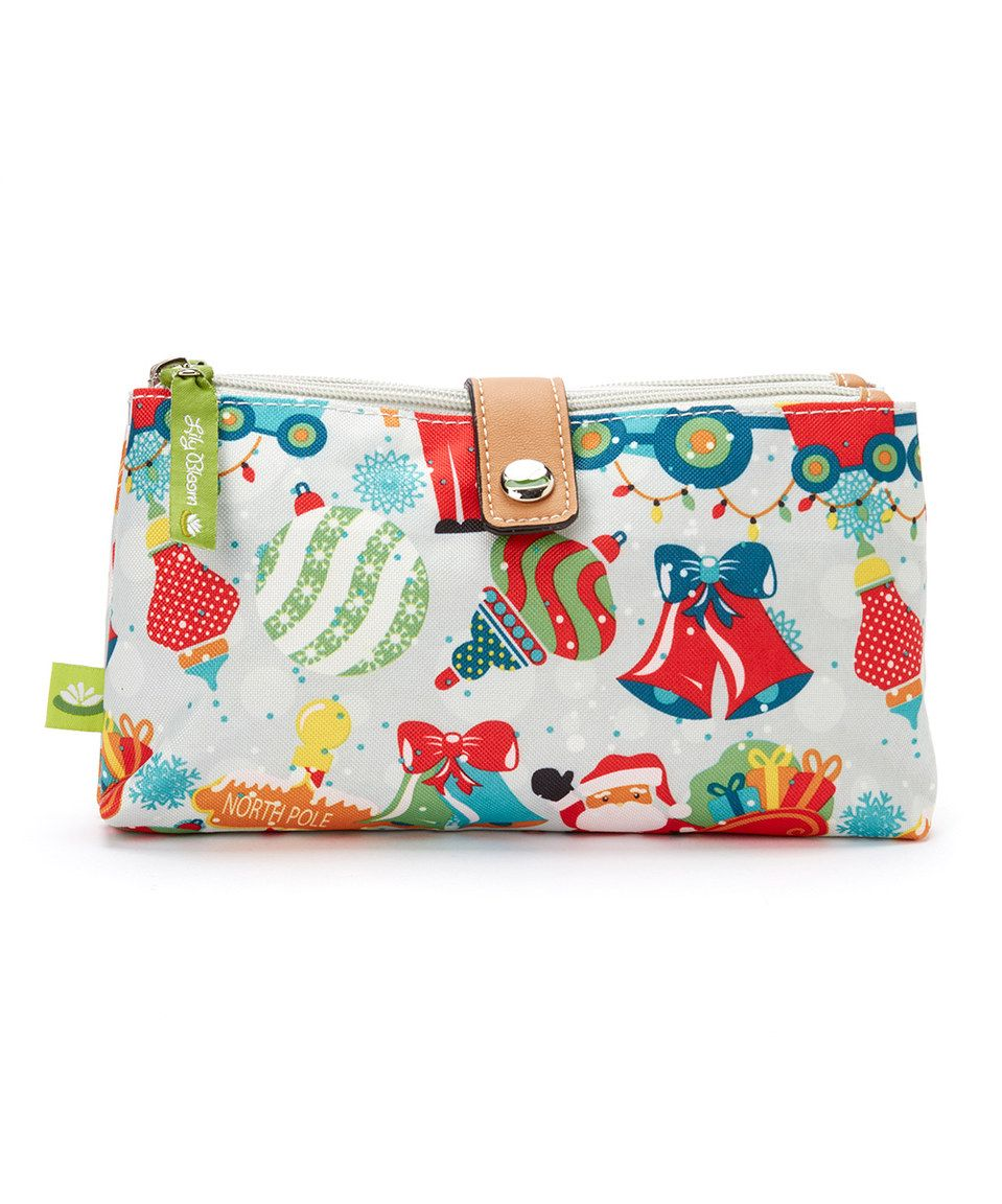 Love this Lily Bloom White & Red Christmas Party Cosmetic Bag by Lily Bloom on #zulily! #zulilyfinds