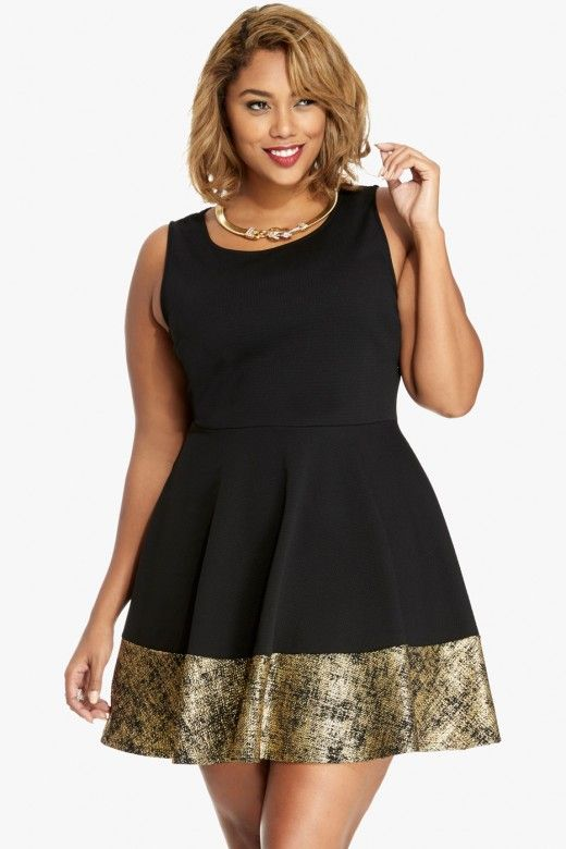 2237b210803 Plus Size Goldie Flare Dress