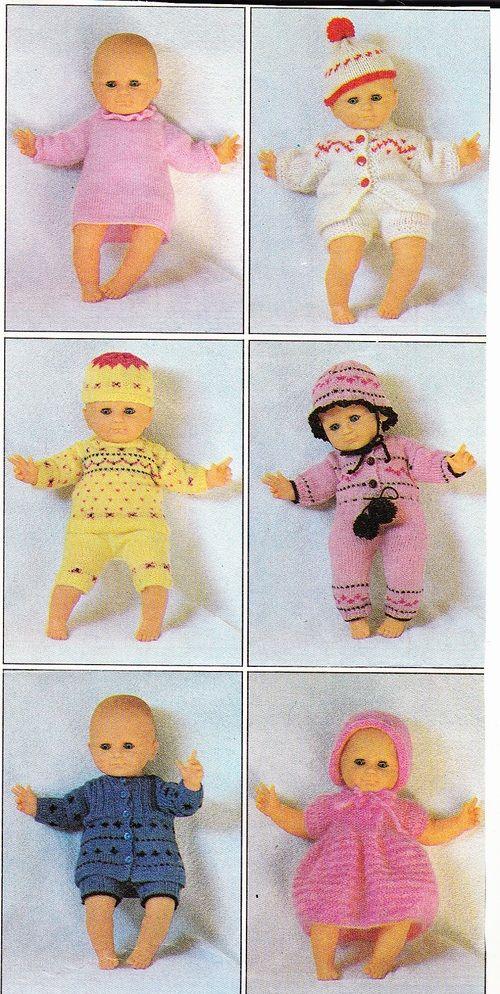 Tenues pour poupon | tricot bebe | Pinterest | Ropa de muñeca, Ropa ...
