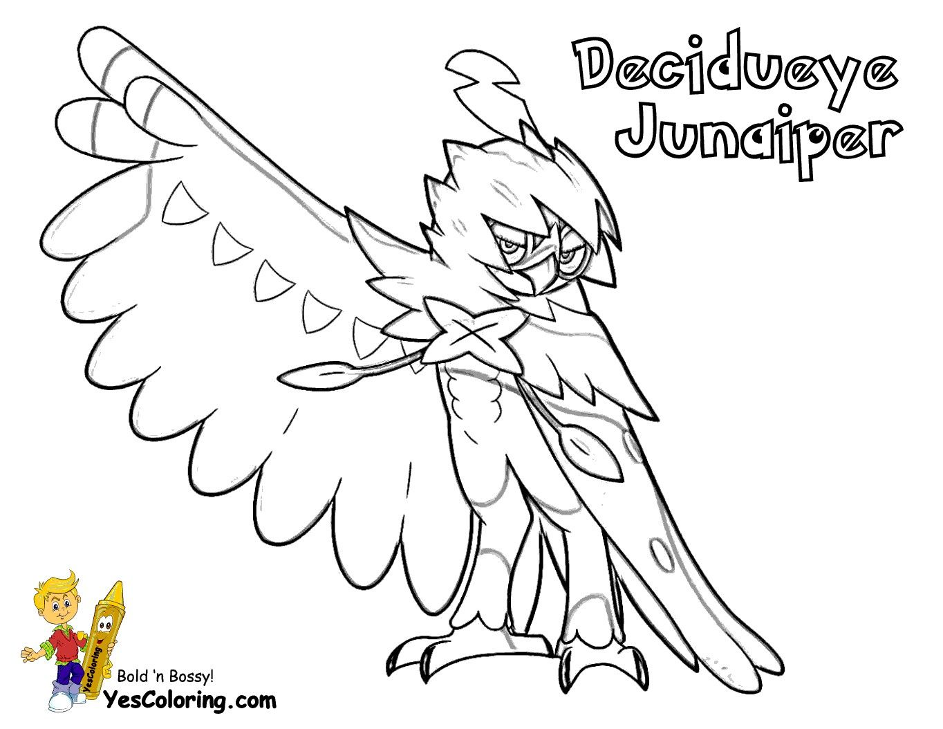 Pokemon Coloring Pages Decidueye From The Thousand Pictures On