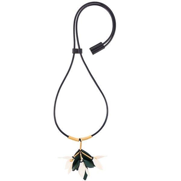 flower pendant necklace - Black Marni hOeKNsolE