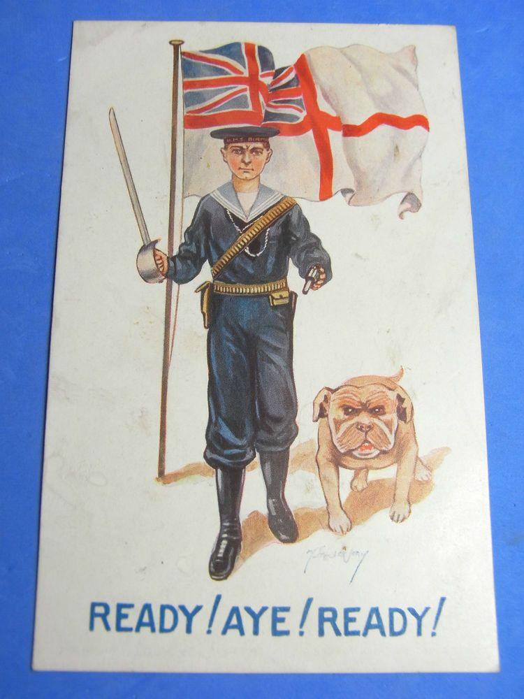BUY A BULLDOG BULLDOG SOLDIERS AND SAILORS CLUB British WW1 Propaganda Poster