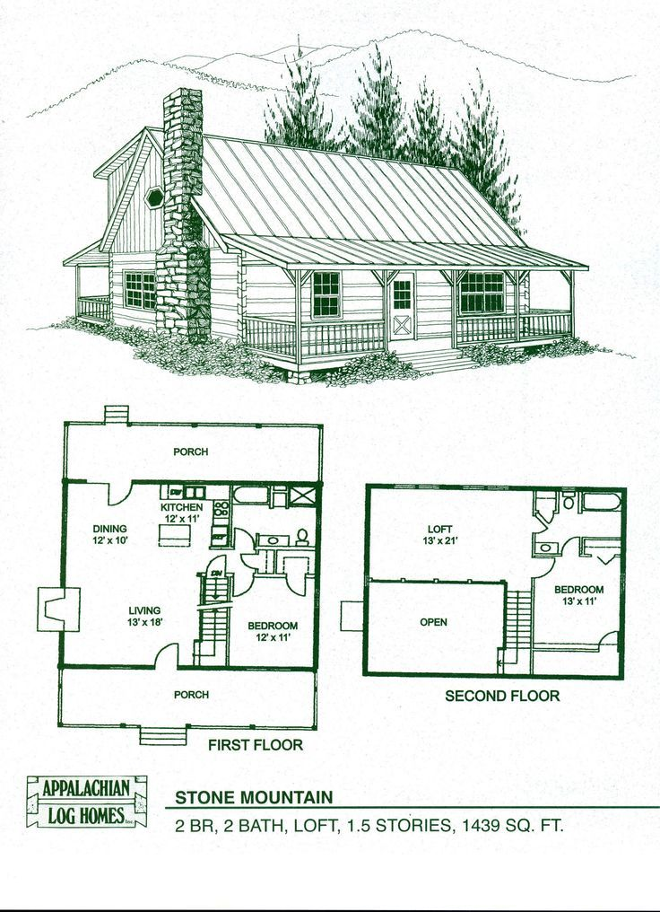 Cabin Home Plans With Loft Log Floor Kits Alachian Homes I Love This Lay Out