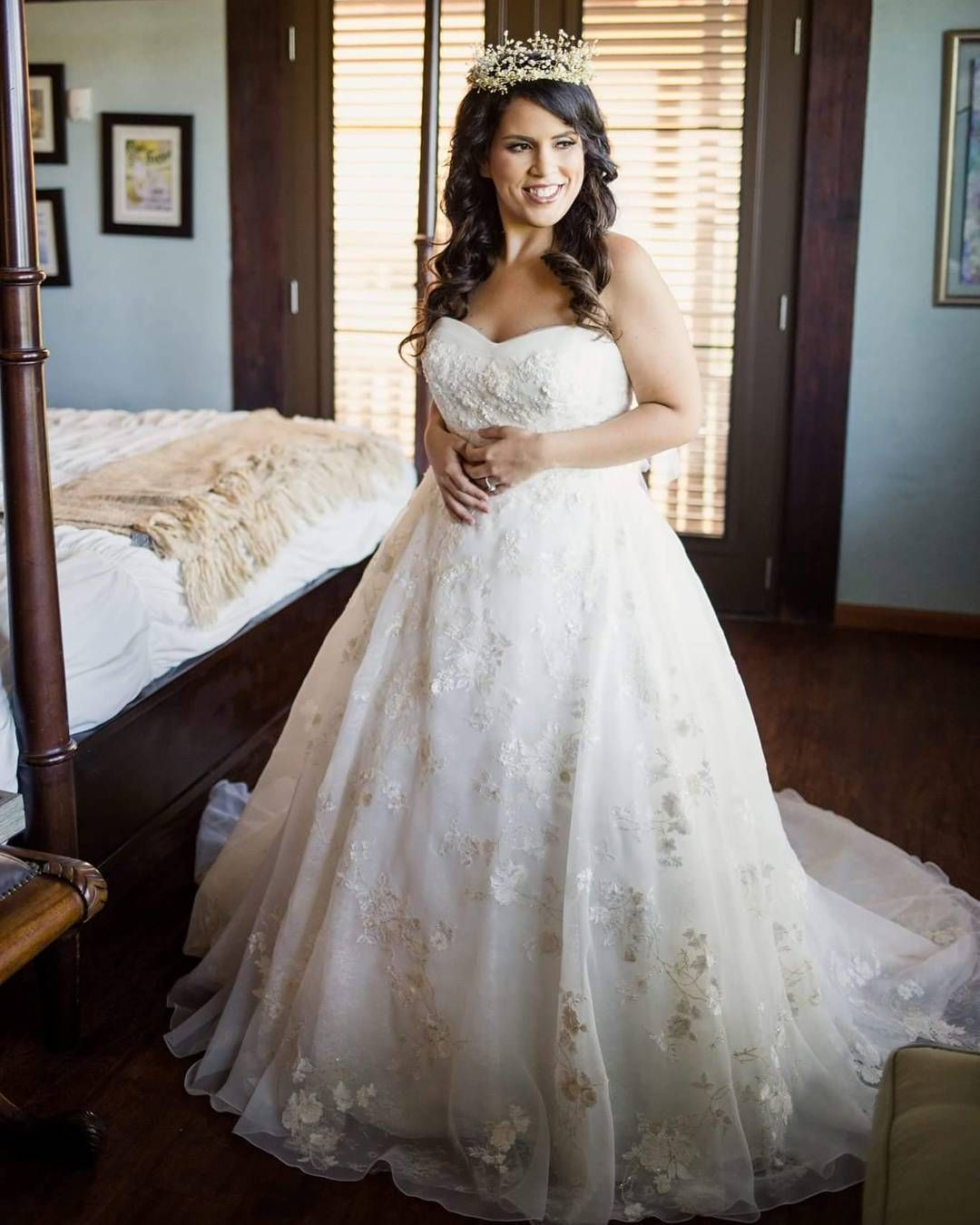 Your Fairytale Wedding Dress Oleg Cassini Organza Veiled Lace